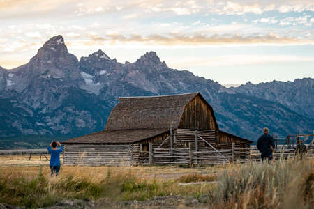 The landscape nature of Grand Teton national park near Yellowstone national park in Wyoming , United States of America Banque d'images