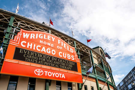 Wringly fields , the home of Chicago Cubs baseball team in Chicago , Illinois , United States of America - September 9 , 2018