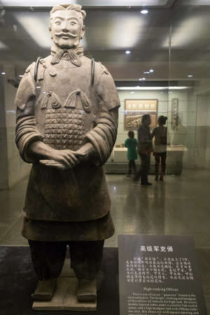huang: The Museum of Qin Terracotta Warriors and Horses in Xian, China, exhibits the famous terracotta warrior to the visitors.