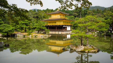 Kyoto, Japan, October 17, 2011 - Kinkakuji Temple or best known as Golden Temple in late Summer.