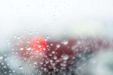 Rain drops on glass. Stock fotó