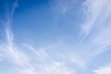 ozone layer: White clouds and blue sky.