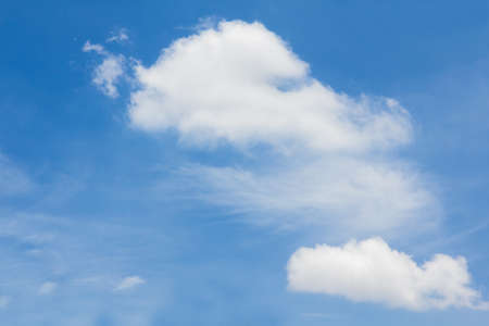 ozone layer: Beautiful cloud formations in blue sky. Stock Photo