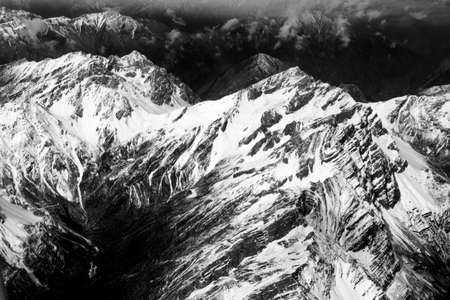 sichuan province: Aerial view mountains in Sichuan province, China.