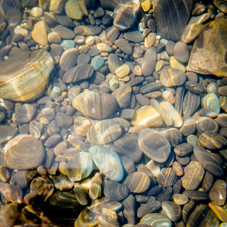 Natural stone under seawater for background. photo