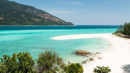 Empty beach of Lipe Island, Thailand.