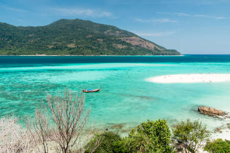 Landmark beach of Lipe Island, Thailand.