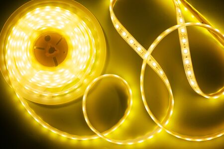 yellow led strip for decorative lighting close-up