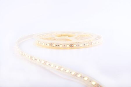 LED lighting, coil diode strip ,on a white background close-up