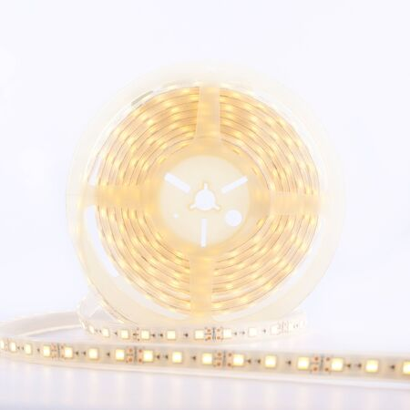 lighting LED strip on a white background  close-up