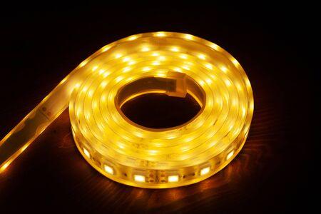 current LEDs-technologies.warm diode light closeup.