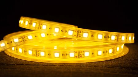Decorative diode lighting for niches.LED Strip Light.led tape closeup 스톡 콘텐츠