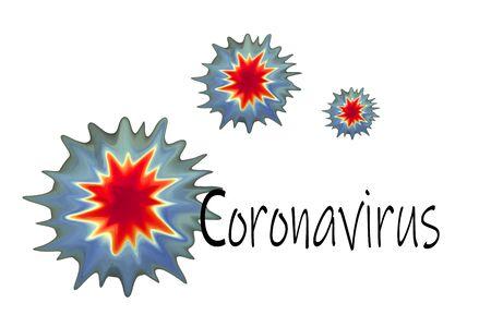 coronavirus a group of viruses causing pneumonia illustration. chinese virus 2019-ncov outbreak.