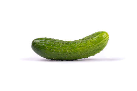 green cucumber isolated on white background.