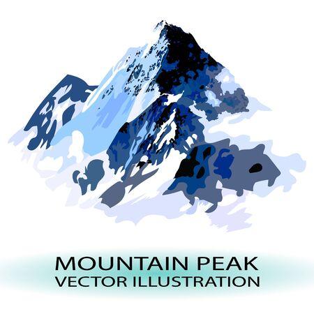 assiniboine: VECTOR mountain peak stylized illustration