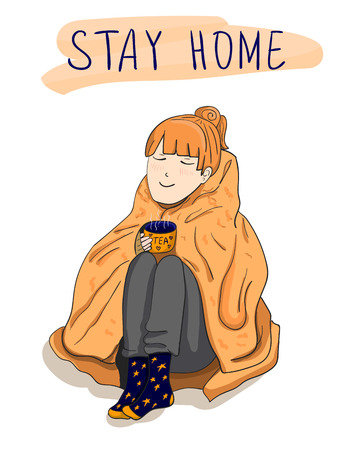 Stay home, VECTOR poster