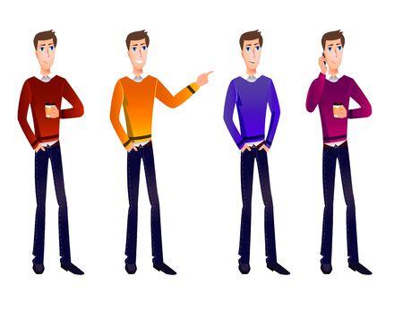 VECTOR set of cartoon business characters. Vektorové ilustrace