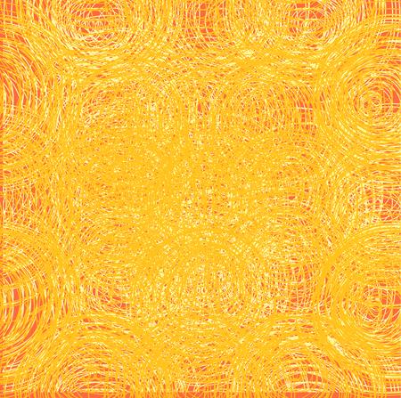 Abstract thread background. Seamless texture. Golden threads