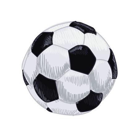 Soccer ball. Hand drawn VECTOR illustration