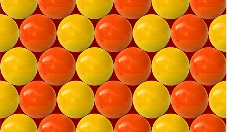 Seamless VECTOR pattern: realistic yellow and orange balls