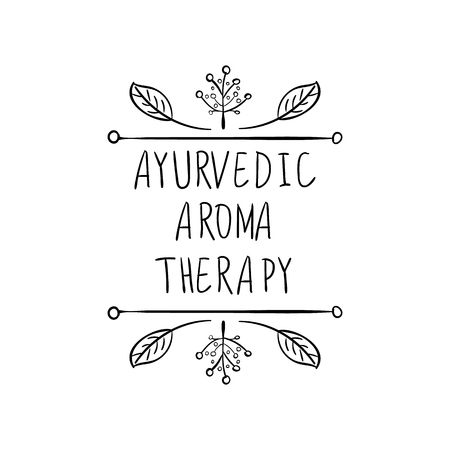 VECTOR Ayurvedic Aromatherapy hand drawn floral frame.