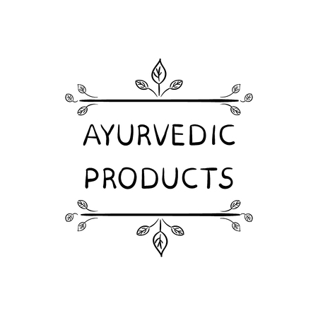 Ayurvedic Products VECTOR Illustration Isolated on White Background.