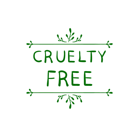 Cruelty Free VECTOR Stamp Logo on White Background.