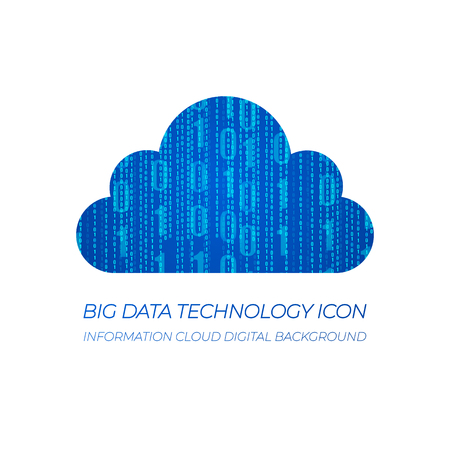 Data Clound, Information Cloud VECTOR Icon Background.
