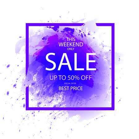 This Weekend Only, Best Price, Special Offer, SALE Banner, VECTOR Template. Illustration