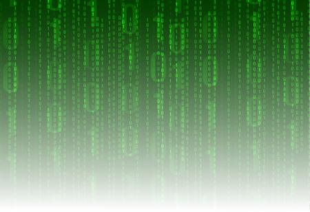 A Matrix Data VECTOR Technology Background, Green Program Coding Background. Illusztráció
