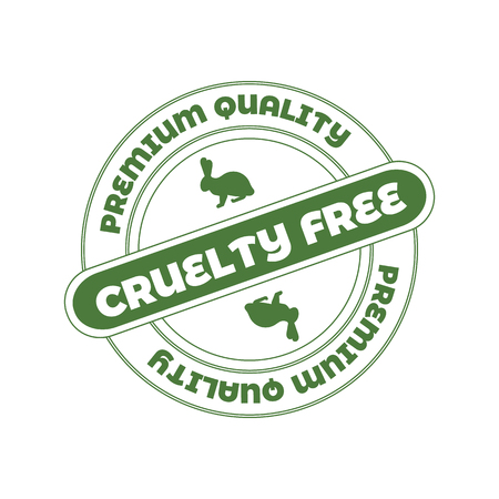 Vector Stamp: Cruelty Free, Not Tested on Animals Sign.
