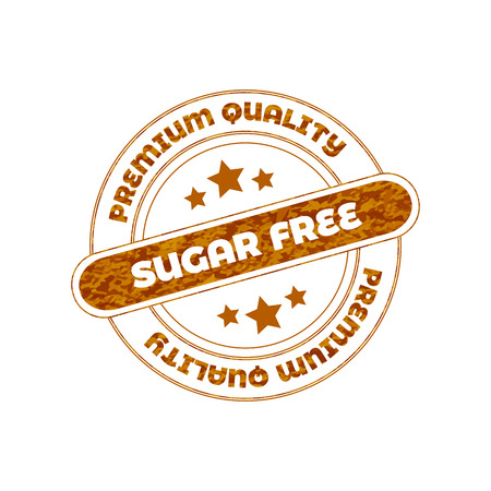 Sugar Free Vector Stamp Isolated on White Background. Illustration