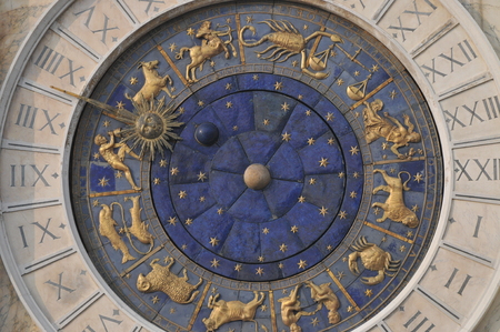 Zodiac Clock in Venice photo