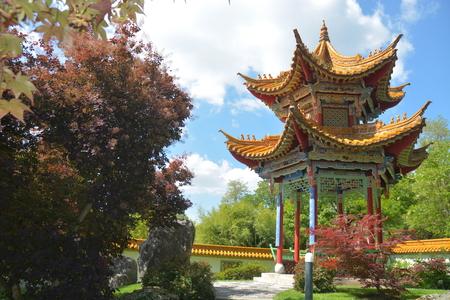 pavillion: Chinese Pavillion In Garden