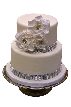 bodas de plata: Pastel de bodas blanco