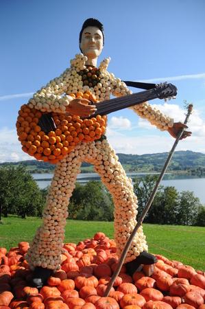 elvis presley: Elvis Presley Pumpkin Sculpture