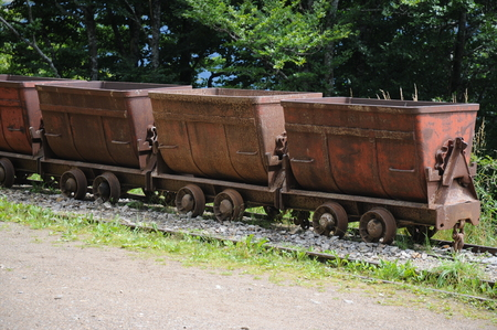 Old mining wagons which were used to bring out various metals from the underground are today left abandoned.