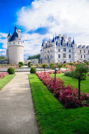 Chateau De Chenonceau  Chenonceau Castle. Chenonceau castle is one of the most famous castles of the loire valley in France. It is located in the village with the same name and is open to the public. This picture of the castle was taken on the 27th of Sep Editorial