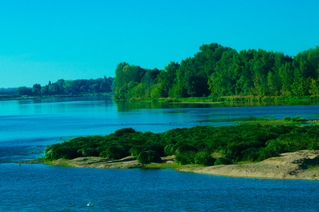 The Loire river is one of the largest streams in France leading up to the Atlantic.