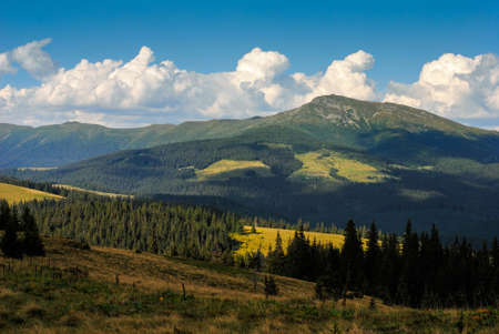 pip: Pip Ivan mountain in Carpathians, observatory is on the top Stock Photo
