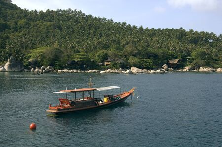 Boat and bungalows resort on Koh Tao island - Thailand