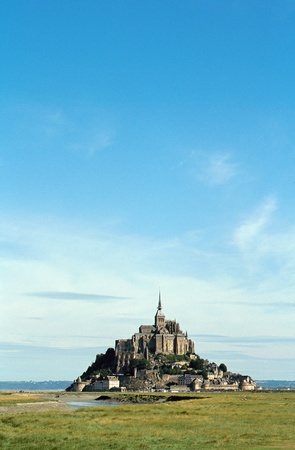 Overview of The mont Saint-michel in Normandy, France and coastal landscape  Stock Photo - 10184502