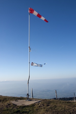 Two Windsock on blue sky photo