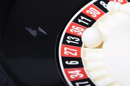 odd: Casino roulette on the number thirteen black and odd Stock Photo