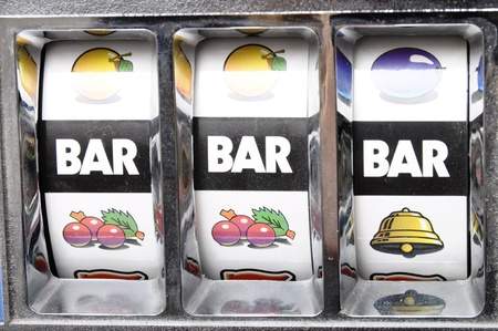 Three bar jackpot on slot machine Stock Photo - 12000682