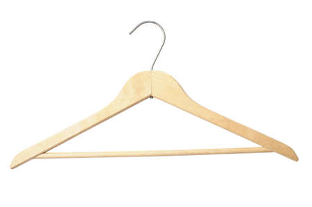 suspend: Wooden hanger with clipping path to suspend your business...  Stock Photo