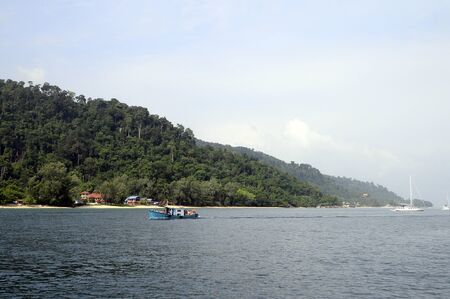 Tioman island from ferry boat - Malaysia photo