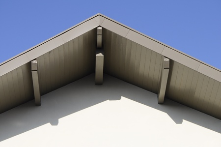 Ridge of a roof of a modern building, and blue sky Stock Photo - 19600728