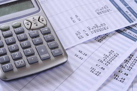 summary: Close up of payroll summary detail with figures and euro