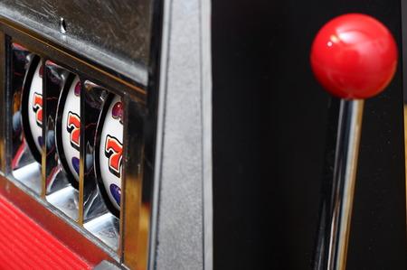 Close up of three seven jackpot on a casino slot machine Reklamní fotografie